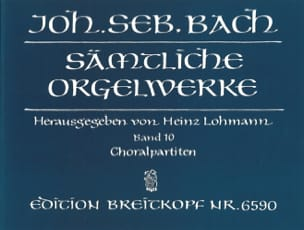 BACH - Sämtliche Orgelwerke Volume 10 - Sheet Music - di-arezzo.co.uk