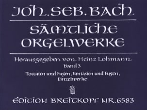 BACH - Sämtliche Orgelwerke Volume 3 - Partition - di-arezzo.co.uk