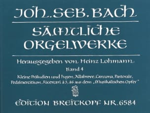 BACH - Sämtliche Orgelwerke Volume 4 - Sheet Music - di-arezzo.co.uk
