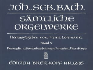 BACH - Sämtliche Orgelwerke. Volume 5 - Sheet Music - di-arezzo.co.uk