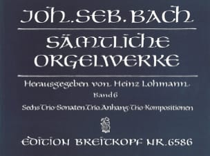 BACH - Sämtliche Orgelwerke. Volume 6 - Sheet Music - di-arezzo.co.uk