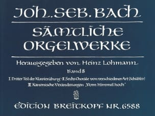 BACH - Sämtliche Orgelwerke Volume 8 - Partition - di-arezzo.co.uk