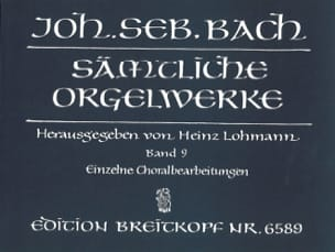 BACH - Sämtliche Orgelwerke Volume 9 - Sheet Music - di-arezzo.co.uk