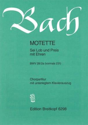 BACH - Motet N° 8 BWV 231 28 - Partition - di-arezzo.fr