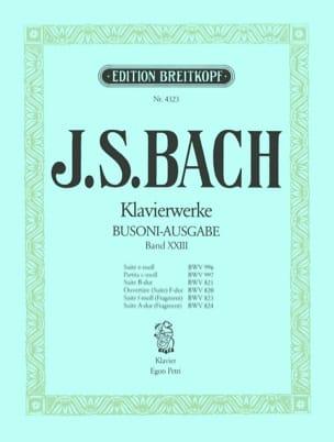 Suiten. Volume 23 Bach Jean-Sébastien / Busoni Ferruccio laflutedepan