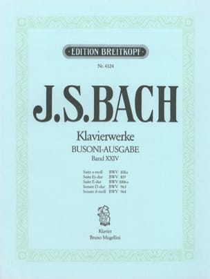 Bach Jean-Sébastien / Busoni Ferruccio - Suites et Sonates. Volume 24 - Partition - di-arezzo.fr