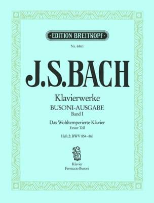 Bach Jean-Sébastien / Busoni Ferruccio - Le clavier bien tempéré I/2 - Partition - di-arezzo.fr
