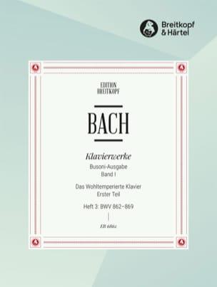 Bach Jean-Sébastien / Busoni Ferruccio - Le clavier bien tempéré I/3 - Partition - di-arezzo.fr