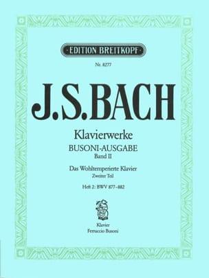 Bach Jean-Sébastien / Busoni Ferruccio - Le clavier bien tempéré II/2 - Partition - di-arezzo.fr