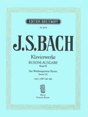 Bach Jean-Sébastien / Busoni Ferruccio - Le clavier bien tempéré II/3 - Partition - di-arezzo.fr