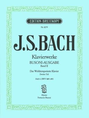 Bach Jean-Sébastien / Busoni Ferruccio - Le clavier bien tempéré II/4 - Partition - di-arezzo.fr