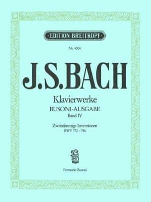 Bach Jean-Sébastien / Busoni Ferruccio - Zweistimmige Inventionen. Volume 4 - Partition - di-arezzo.fr