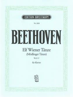 BEETHOVEN - 11 Wiener Tänze - Partition - di-arezzo.fr