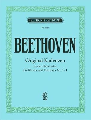 8 Cadences des Concertos 1, 2, 3, 4 BEETHOVEN Partition laflutedepan