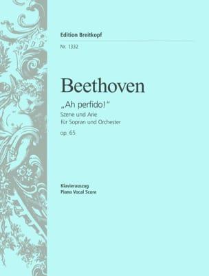 Ah ! Perfido Opus 65 BEETHOVEN Partition Mélodies - laflutedepan
