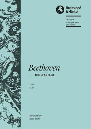 Chorfantasie C-Moll Opus 80. Choeur seul BEETHOVEN laflutedepan