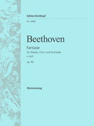 Ludwig van Beethoven - Chorfantasie C-Moll Opus 80 - Partition - di-arezzo.fr