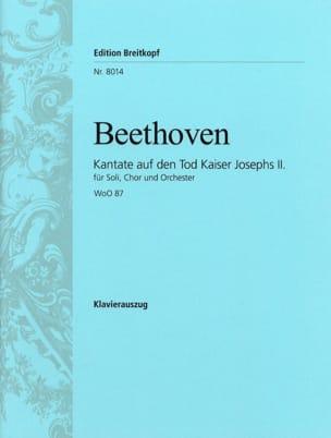 Ludwig van Beethoven - Kantate Auf Den Tod Kaiser Josephs 2 Woo 87 - Partition - di-arezzo.fr