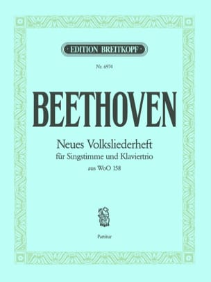Neues Volksliederheft Woo 158 Chant Conducteur BEETHOVEN laflutedepan