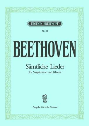Ludwig van Beethoven - Sämtliche Lieder. Voix Haute - Partition - di-arezzo.fr