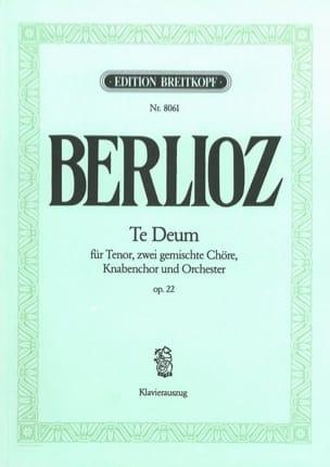 BERLIOZ - Te Deum Opus 22 - Partition - di-arezzo.fr