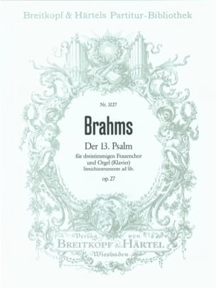 BRAHMS - Psalm 13 Opus 27 - Partition - di-arezzo.fr