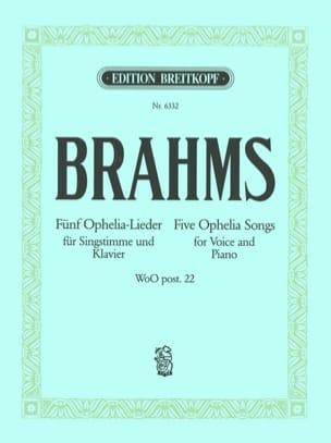 5 Ophelia-Lieder BRAHMS Partition Mélodies - laflutedepan