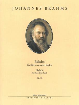 Balladen Opus 10 BRAHMS Partition Piano - laflutedepan