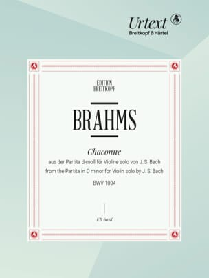 Bach Jean-Sébastien / Brahms Johannes - Chaconne En Ré Mineur. Main Gauche - Partition - di-arezzo.fr