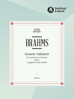 BRAHMS - Deutsche Volkslieder, Serious Voice Volume 1 - Sheet Music - di-arezzo.co.uk