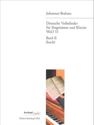 Johannes Brahms - Deutsche Volkslieder, Voix Haute volume 2 - Partition - di-arezzo.fr