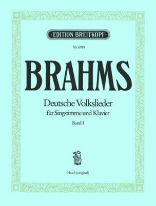 Deutsche Volkslieder, Voix Haute, Volume I BRAHMS laflutedepan