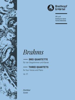 BRAHMS - 3 Quartet Opus 31 - Sheet Music - di-arezzo.com