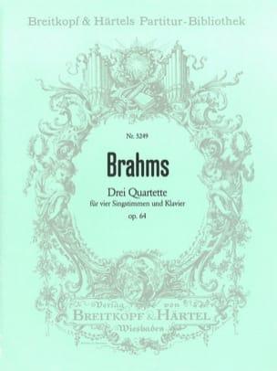 BRAHMS - 3 Quartette Opus 64 - Partition - di-arezzo.fr