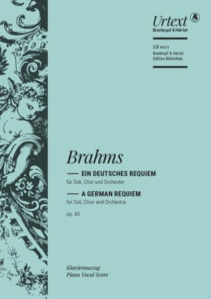 BRAHMS - アインDeutsches Requiem Opus 45 - 楽譜 - di-arezzo.jp