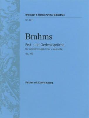 Johannes Brahms - Fest-Und Gedenksprüche Opus 109 - Partition - di-arezzo.fr