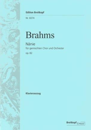 BRAHMS - Nänie Opus 82 - Partition - di-arezzo.fr
