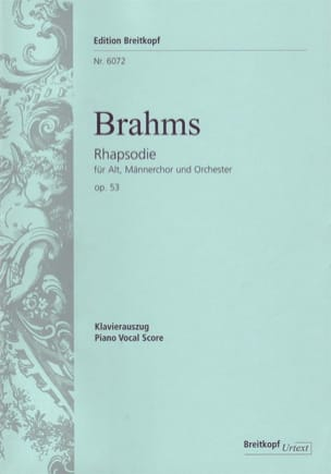 BRAHMS - Rhapsody Für Alto Opus 53 - Sheet Music - di-arezzo.co.uk