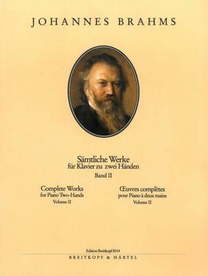 Johannes Brahms - Oeuvres pour piano. Volume 2 - Partition - di-arezzo.fr