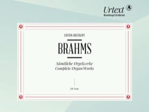 Johannes Brahms - Oeuvres Complètes Orgue - Partition - di-arezzo.fr