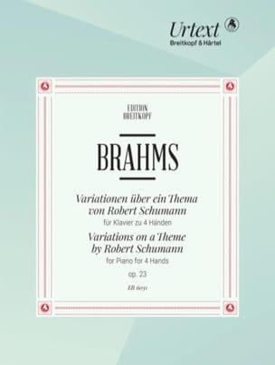 Johannes Brahms - Variationen Opus 23. 4 Mains - Partition - di-arezzo.fr