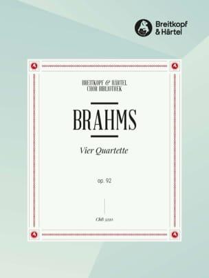 BRAHMS - 4 Quartette Opus 92. Choeur - Partition - di-arezzo.fr