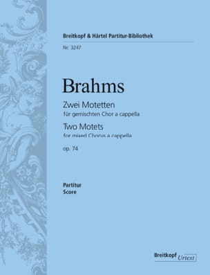 BRAHMS - 2 Motetten Opus 74 - Sheet Music - di-arezzo.co.uk