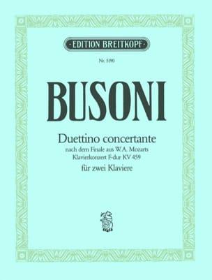 Duettino Concertante 2 Pianos - Ferruccio Busoni - laflutedepan.com