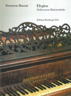 Elegien Ferruccio Busoni Partition Piano - laflutedepan
