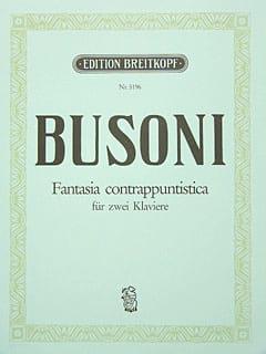 Ferruccio Busoni - Fantasia Contrappuntistica. 2 Pianos. Bus-Ver 256b - Partition - di-arezzo.fr