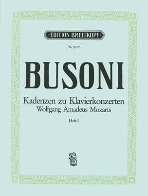Mozart Klavier-Konzert Kadenzen, Bd. 1 Ferruccio Busoni laflutedepan