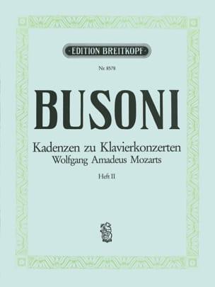 Mozart Klavier-Konzert Kadenzen, Bd. 2 Ferruccio Busoni laflutedepan