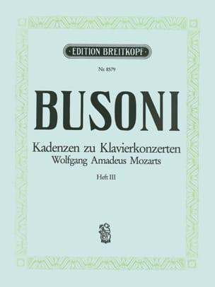 Mozart Klavier-Konzert Kadenzen, Bd. 3 BUSONI Partition laflutedepan