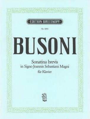 Sonatina Brevis Ferruccio Busoni Partition Piano - laflutedepan